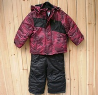 Children's Winter Sports Suit Boys Outdoor Cotton-padded Snow Suit  thermal Clothings set Kid's wadded cosutmes