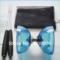 4Colors One New Chinese YO YO 3 Bearing Diabolo Set Metal Sticks String bag