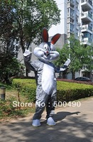2013 hot sale gray rabbit character Costume Mascot Costume rabbit cartoon costume Free Shipping