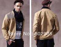 Autumn 2013 Men Jackets Mandarin collar Knitting shoulder Jacket coat for man