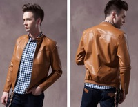 men pu leather jackets casual 2013 autumn clothes man