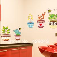 wall stickers paper bonsai bee romantic wall tv fashion glass