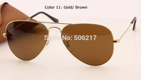 Hotselling High Grade Men's Women's Sunglasses Brand New 001/33 Metal Gold Frame SUNGLASSES Pure Brown lens 58mm