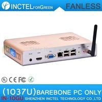 IVB platform Intel Celeron dual-core C1037U 1.8GHz barebone mini pc computer