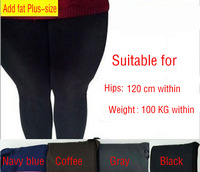 Free shipping 2014 New Plus size Legging  Fat Women Plus Velvet Long Johns BIG SIZE  Pants Spring Autumn Ankle Length