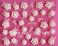 100pcs/lot beautiful lovely fashionable carving flower nail art sticker