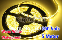New 2013 5M 300LED SMD 5050 Waterproof Flexible Led Strip Light Warm White DC12V 2737