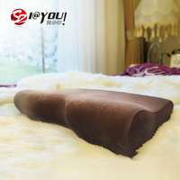 59x33x10cm 100% memory foam massage therapy free shipping neck protecting pillow as seen on tv new products(brown cover)