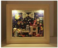 Kawaii DIY Dollhouse Free Shipping  Dream Tour Box Dollhouse/House for Dolls