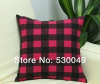 Free Shipping 16''X16'' 2pcs 2Designs Canvas Pillow Cushion Cover For Sofa or Bed O009