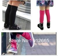 20pairs/lot Candy girl's boot socks dance leg warmers children knee high socks leg cover free shipping