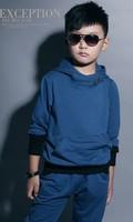 autumn winter cotton children sweatshirt, boy Comfortable and stylish children's clothing sport twinset,