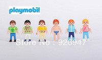 Play mobil Free shipping Playmobil building blocks of people 37 DIY toys plastic toy blocks figures
