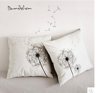 Free shipping 4pcs/set 47*47 velvet Dancingly black and white fashion taro cushion  pillow cover