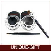 Rosalind Best Seller 2 in 1 Brown + Black Gel Eyeliner Make Up  Waterproof Freeshipping Cosmetics Set Eye Liner Makeup Eye