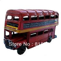 Handmade vintage metal  car model london bus15 Vintage car model,Home decoration Crafts Gifts Collage