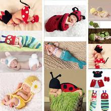 Hot sale!Cute Baby Girls Boy Newborn-9M Knit Crochet Mermaid Minnie Clothes sets Photo Prop Outfits(China (Mainland))