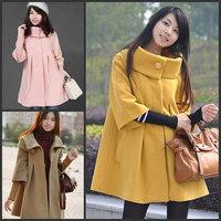 Fashion Warm Autumn Plus size M L XL for Pregnant women Maternity winter woolen overcoat clothing clothes