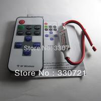 12A Wireless RF Mini LED Light Remote Controller Module w/ Dimmer & Strobe 5050 3528 5630 LED Strip DC5V-24V