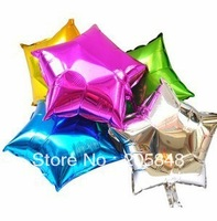 50PCS Wholesale Free Ship 9Inch 22cm Pentagram Star Shape Foil Decal Balloons Party Decoration For Birthday Wedding Christmas