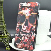 10pcs handsome cool painting cell phone case for iphone5 apple iphone 5 5S luxury glasses skull back cover housing fashion