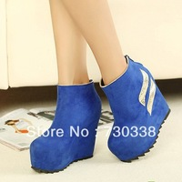 Autumn  women shoes wedges boots 2013 fashion short boots elevator single high-heeled platform boots woman