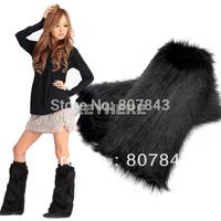 women's Fluffy Fuzzy Faux Fur Fashion/Dance Leg Warmers  40 cm boots cover