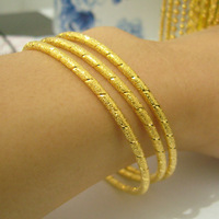 Christmas gift Gold bracelet female 999 fine gold bracelet plated gold bracelet circle the bride bracelet single