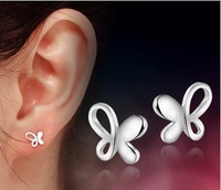 Butterfly Stud Earring Women Accessories Anti-allergic