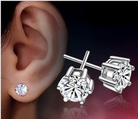 925 Pure Silver Stud Earring Pure Silver Female Accessories Anti-allergic Earring