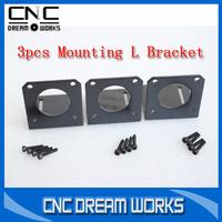 3pcs Stepper motor NEMA 23 motor Mounting L Bracket Mount for 57 Motor with 3sets mounting screws CN774