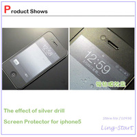10pcs/lot Clear LCD Screen Protector Guard Cover Film For Apple iphone 5;Mirror Film/Back and Front Film/Frosted Film for option