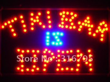 led042-r Tiki Bar is OPEN LED Neon Light Sign Wholesale Dropshipping