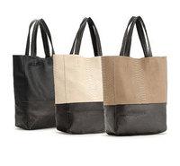 2014 hot  Korean design PU leather women Bag big tote Snake Pattern Ladies fashion bucket handbag large capacity free shipping