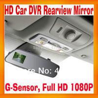 """Car DVR Rearview mirror 2.7"""" Display Full HD1080P Black Box night vision Super Slim Design Built in G-Sensor"""