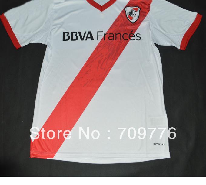 10 m lanzini 2013 2014 argentina river plate home white club top thai
