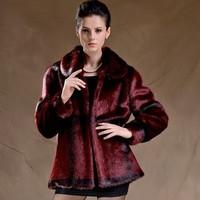 ladies artificial fur coats plus size faux fur coats for women long sleeve mink fur jackets