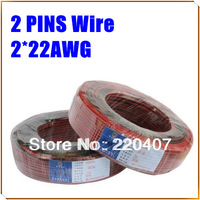 Free Shipping+ 30M LED  extension cable wire cord 2pin Wire AWG 22 for LED single color for 3528/5050 strip light