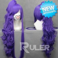 Factory Price 90cm Long gintama-Gakupo Purple Cosplay wigs 1 Clip On Ponytail COS-047A