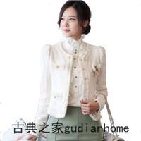 Autumn small ladies short jacket female elegant slim tweed fabric formal short design coat