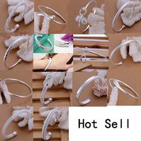 A12 // Big promotion popular Factory Price hot sale Bracelets Chain, wholesale fashion 925 jewelry silver plated Bangle Bracelet