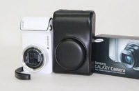 "MegaGear ""Ever Ready"" Protective Black Leather Camera Case EK-GC100, Samsung EK-GC110 Galaxy Digital Camera Black"