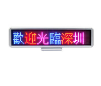 (Red + Blue )Tri colors LED mini display,LED desk board,LED sign,LED digibo/programmable rehcarge/led desk display 423mm C1696RB