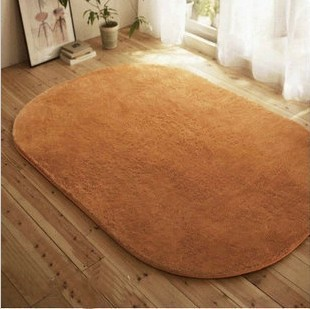 Oval shape bruge carpet living room coffee table bed blankets customize mats 800mm*1600mm