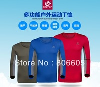 2013 New men Sports Breathable Wear Under Shirts Tights Base Layers Tops T-Shirt Quick-Drying Plus Size S M L XL XXL
