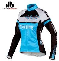 SOBIKE CATHE FLEECE Thermal YKK Zipper Women's Ladies Bike Bicycle Cycling Cycle Clothing Long Sleeves Jersey Jacket- Shock Wave