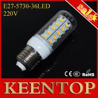 E27 Led Light 12W  220V Energy Efficient Corn Bulbs 5730SMD 36LEDs Crystal Lamps 5730 SMD Chandelier Spotlight  6Pcs/Lot