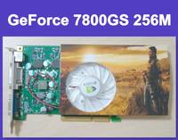 nVidia GeForce 7800GS 256M 256bit DDR3 AGP video card graphic card 30% faster than HD4670/HD4650 DDR2