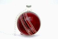 10pcs/lot Cricket Ball Necklace Glass Cabochon Necklace