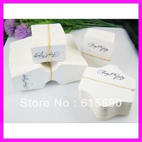Wholesale customized earring .price tag .necklace display hanging card in sets.MOQ 1000sets